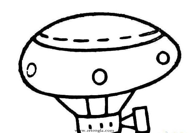 幼儿热气球简笔画 - 幼儿认识颜色 - 幼儿石头画图片