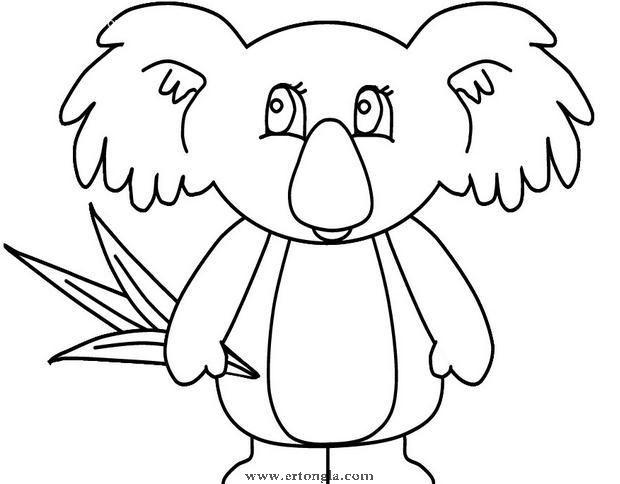 考拉简笔画怎么画,动物简笔画