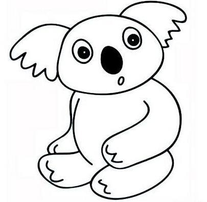 简笔画动物-树熊简笔