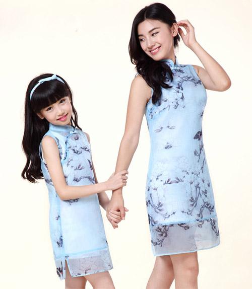 女童连衣裙两件套儿童裙子亲子装A字裙夏款
