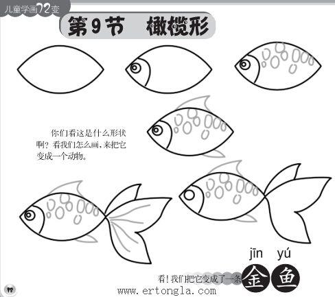 金鱼简笔画步骤分解