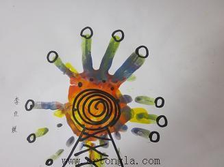简笔画 手印画图片 > 手印画摩天轮图片 ad:加入儿童啦早教简笔画-幼