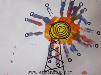 简笔画 手印画图片 手印画摩天轮图片 ad 加入儿童啦早教简笔画
