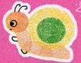 手印画图片蜗牛