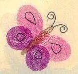 手印画图片蝴蝶、蜜蜂、花朵