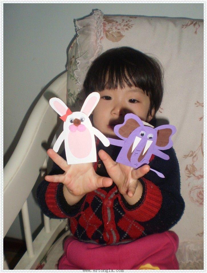 的是温婉可人的小白兔小姐和彬彬有礼的大象先生.-亲子手工DIY 纸