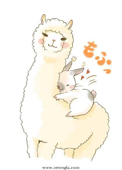 卡通羊驼简笔画图片8