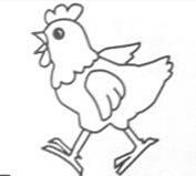 小鸡简笔画怎么画