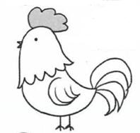公鸡简笔画怎么会