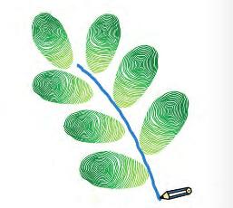 手印画树叶步骤分解