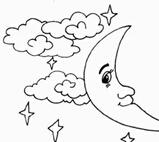 简笔画月亮和星星图片