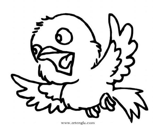 简笔画小鸟怎么画,动物简笔画,儿童啦网