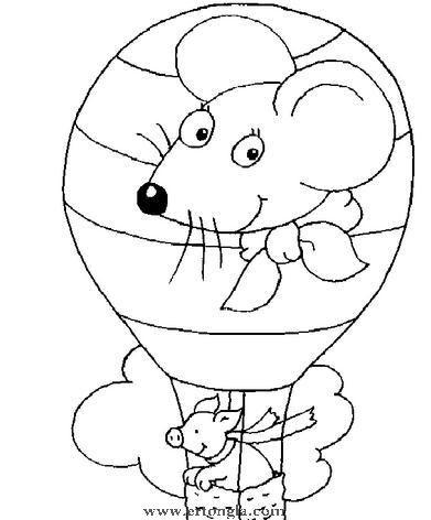 幼兒熱氣球簡筆畫 - 幼兒認識顏色 - 幼兒石頭畫圖片
