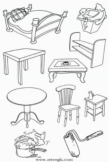 桌子简笔画怎么画,日常简笔画