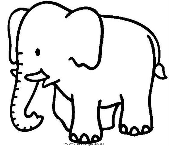 简笔画大象怎么画,动物简笔画,儿童啦网