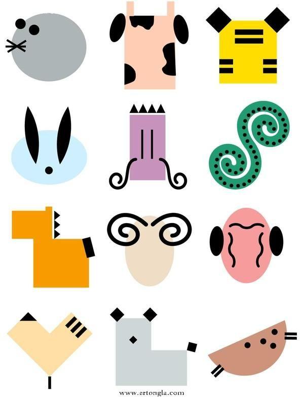 十二生肖简笔画怎么画,动物简笔画,儿童啦网