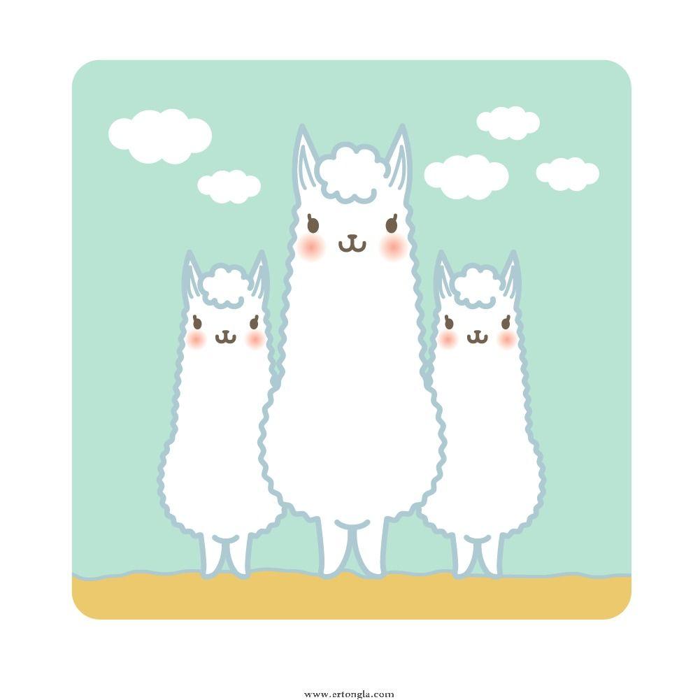 卡通羊驼简笔画图片9