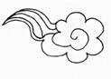 简笔画云朵图片