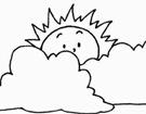简笔画乌云和太阳图片