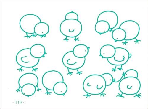 圆形在我们生活中很常见,本期我们一起来用简笔画圆画生活中的小动