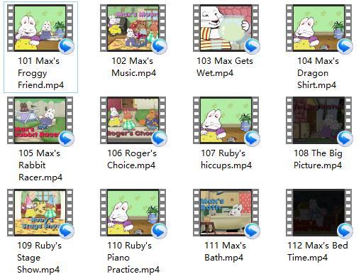 小兔麦斯和露比 Max and Ruby 1-4季打包