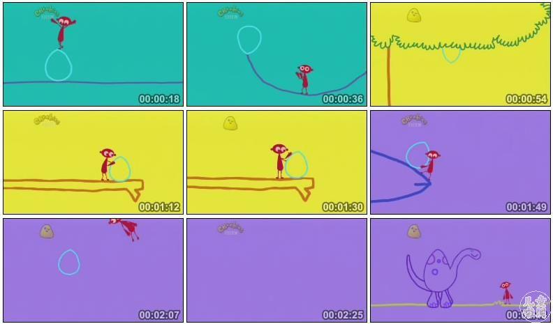 是bbc儿童频道cbeebies出品的一部简笔动画,通过小人物dipdap和一条