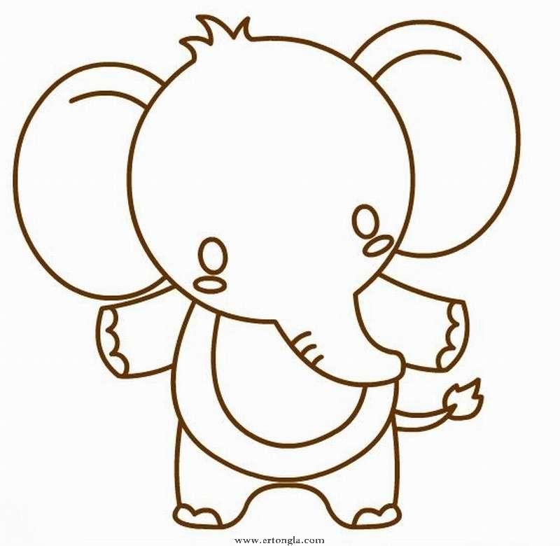 简笔画大象怎么画,动物简笔画