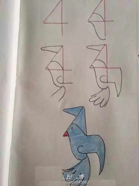 鸽子简笔画,鸽子简笔画步骤分解,鸽子简笔画怎么画,动物简笔画,图片