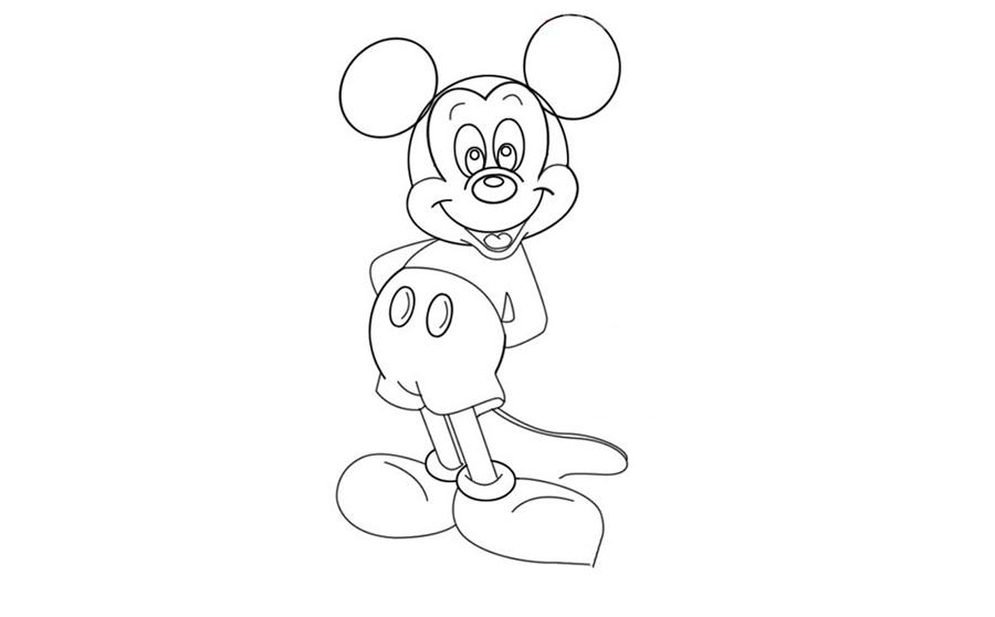 米老鼠米老鼠,米老鼠简笔画怎么画,动物简笔画,儿童啦网