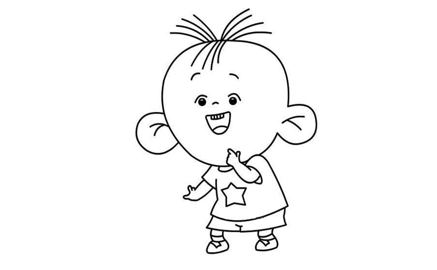 大耳朵图图大耳朵图图,大耳朵图图简笔画怎么画,动物简笔画,儿童啦网