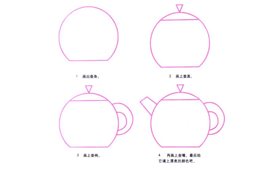 茶壶茶壶,茶壶简笔画怎么画,日常简笔画,儿童啦网