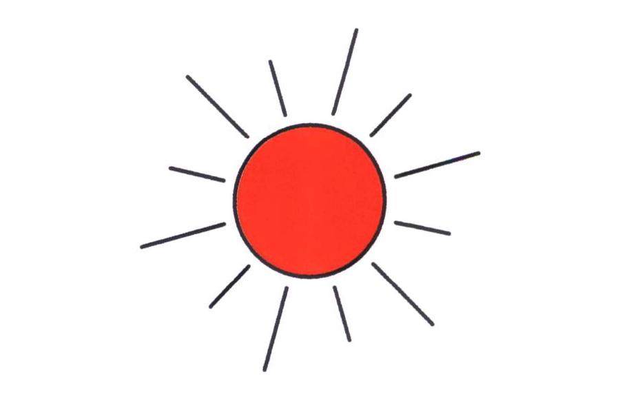 太阳太阳,太阳简笔画怎么画,日常简笔画,儿童啦网