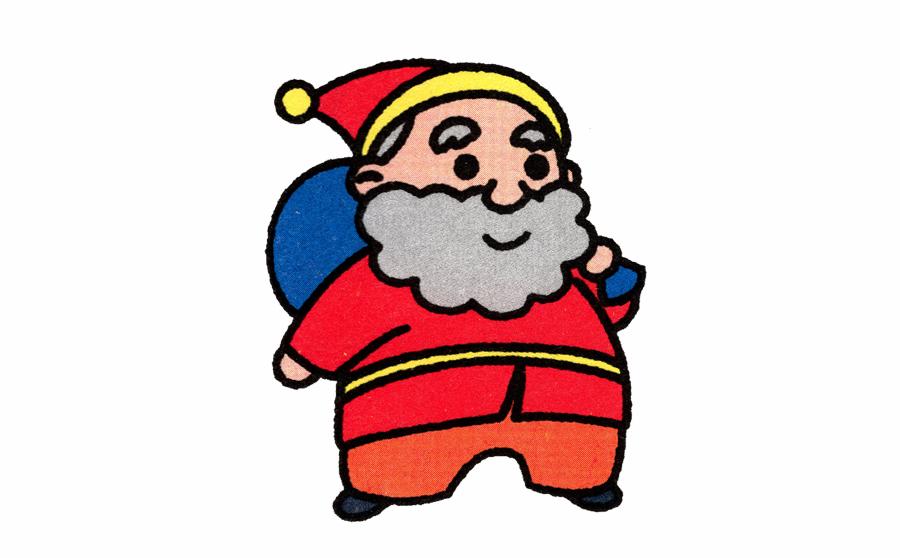 圣诞老人简笔画,圣诞老人简笔画步骤分解,圣诞老人简笔画怎么画