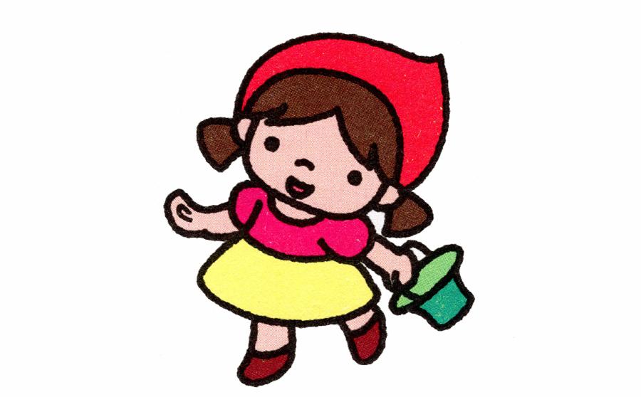 小红帽简笔画,小红帽简笔画步骤分解,小红帽简笔画怎么画