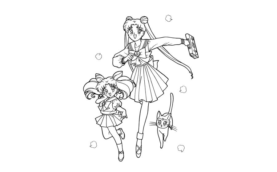 美少女战士和猫