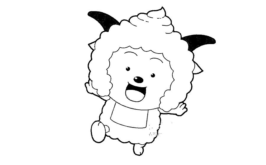 学习简笔画怎么画  喜羊羊步骤分解,由简单到复杂,怎么画卡通  喜羊羊