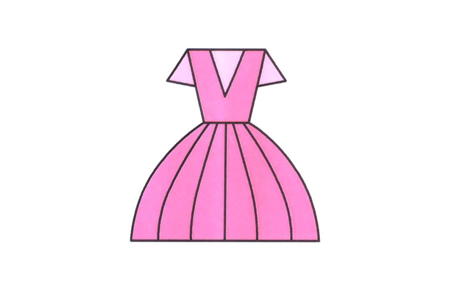 裙子,裙子简笔画怎么画图片
