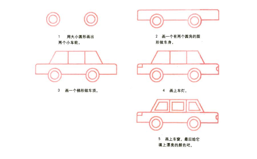 汽车,汽车简笔画怎么画