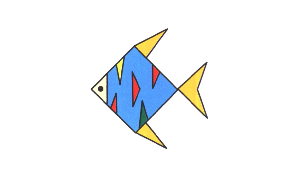 花纹鱼,简笔画花纹鱼怎么画