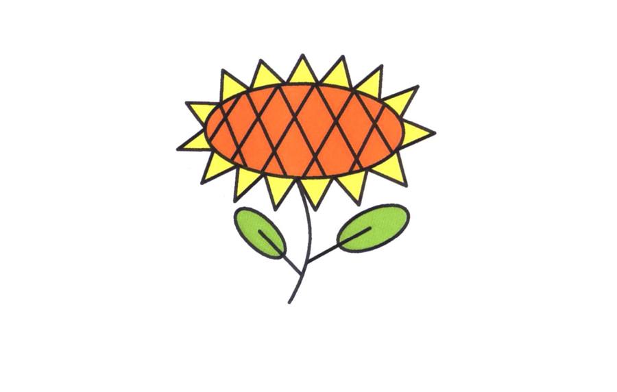 向日葵,向日葵简笔画怎么画