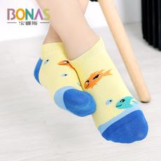 宝娜斯儿童袜子纯棉春秋薄款棉袜