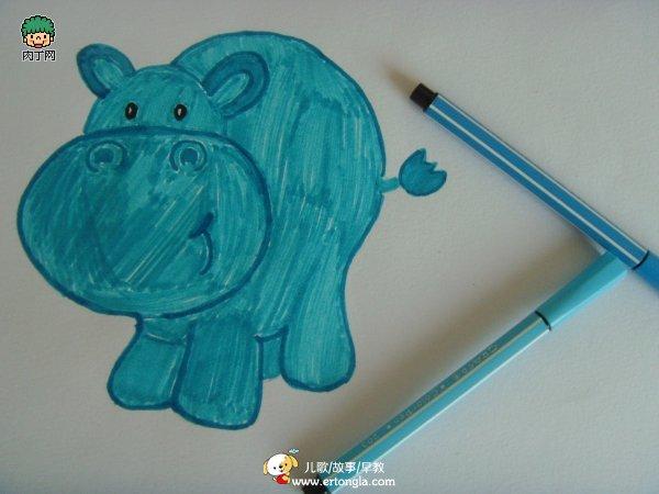 幼儿绘画作品狮子的新发型