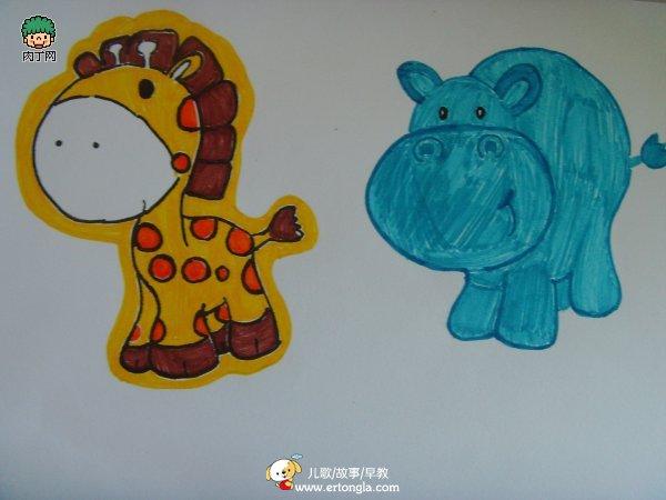 > 儿童绘画教程—可爱的儿童创意绘画作品图片