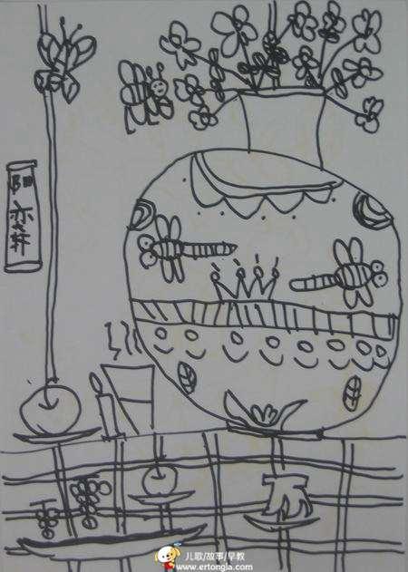 > 学前班美术兴趣班学生儿童画优秀作品选(一)