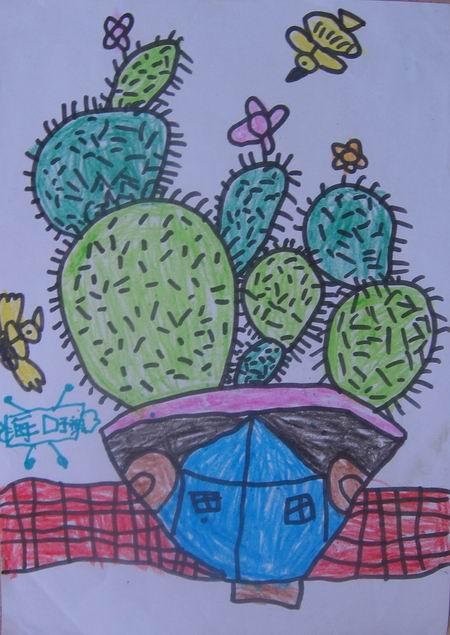 学前班美术兴趣班学生儿童画作品选(五)图片